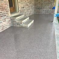This porch is resurfaced in a Birch Granite Multi-Stone