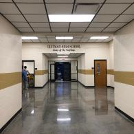 With polished concrete, this school will only have to dust mop and auto scrub to keep this floor looking like new.